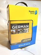 Rosetta Stone Learn German Lifetime Subscription Bonus New Sealed Complete