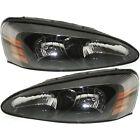 Headlights Headlamps Left & Right Pair Set NEW for 04-08 Pontiac Grand Prix