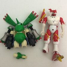 2001 Bandai Digimon Dukemon & Rapidmon Figure Toys For Parts As Is
