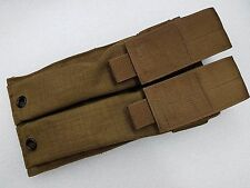 Gunfighter Double SMG Mag Pouch Molle For UMP45 Coyote Brown