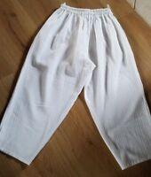 Leichte Damen Hose 3/4 Hose ,weiß Gr. 46