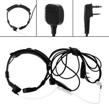 1x2-pin Throat PTT Microphone Earpiece Mic for Baofeng Uv5r Radio Walkie Talkie