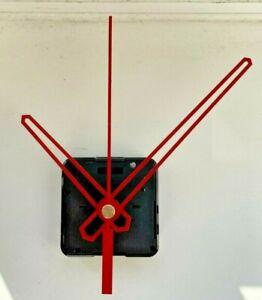 Clock Movement - Red Quartz Sweeping Hands - AA Battery Powered - Mechanism UK