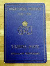 SOMALILAND KGVI 1947 Paris Congres Postal Universel Booklet.