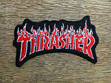 Thrasher embroidered patch iron on, sew, decorate skateboard sports#02