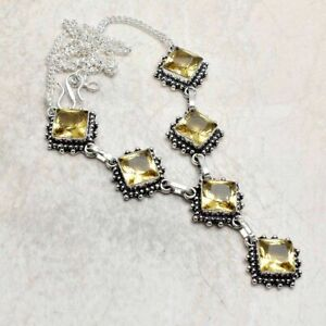 Citrine Ethnic Handmade Necklace Jewelry 25 Gms AN 95510