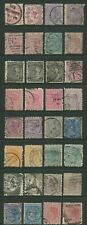 NEW ZEALAND: QUEEN VICTORIA USED CLEARANCE LOT OF THIRTY-TWO (NZQV)