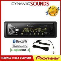 Pioneer Mvh-X580dab Radio DAB , Mp3 USB Auxiliar Bluetooth Estéreo, Plays