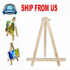 1Pcs Natural Wooden Mini Easel Triangle Display Kit For Kids Painting