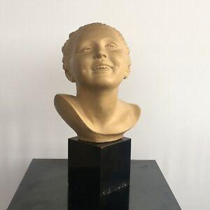 Bohumil Rezl (1899-1963) - Buste de femme en terre cuite epoque art déco XXème