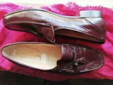 BOSTONIAN MEN SHOES  BBURGUNDY LEATHER LOAFERS!SIZE 13 M /45! MADE IN ITALY