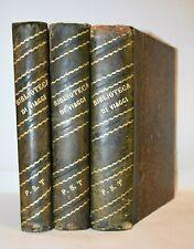 BIBLIOTECA DI VIAGGI Treves 9 opere in 3 volumi Cuba Florida Africa Europa Asia