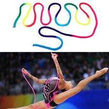 Rainbow Color Rhythmic Gymnastics Rope Solid Competition Art Training Sport Rope