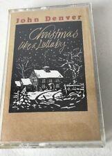 John Denver Christmas Like A Lullaby Cassette Tape 1990 The First Noel 1990