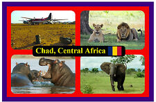 CHAD, CENTRAL AFRICA - SOUVENIR NOVELTY FRIDGE MAGNET - FLAGS / SIGHTS - NEW