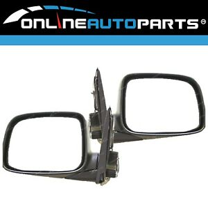 LH+RH Manual Side Mirrors Pair for Holden RA Rodeo Ute 2003-2008 L+R Set