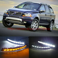 2x LED DayTime Running Light REPLACEMENT FOG GRILLE FOR 2007-2013 Volvo XC90