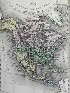 North America United States Canada Mexico 1832 Carey & Lea miniature print