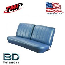 1966 Chevy El Camino Front Bench Seat Upholstery Blue Made in USA by TMI
