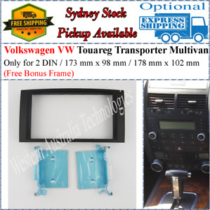 Fascia facia Fits VW Volkswagen Touareg Transporter Multivan Double Two 2 DIN