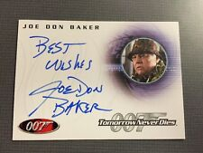Authentic Autograph Card Of Joe Don Baker As Jack Wade In Tomorrow Never Dies.
