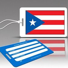 TagCrazy Luggage Tags, National Flag of Puerto Rico, Durable Plastic Loops-1 Pk