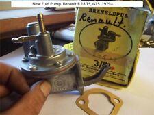 New Fuel Pump. Renault R 18 TS, GTS. 1979--