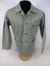 WWII USMC P1941 HBT Herring Bone Twill Combat Jacket or Shirt Uniform Sz 39 NICE