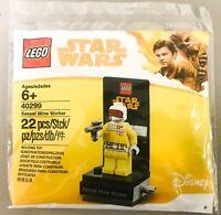 LEGO DISNEY STAR WARS MINIFIGURE HAN SOLO KESSEL MINE WORKER POLYBAG 40299