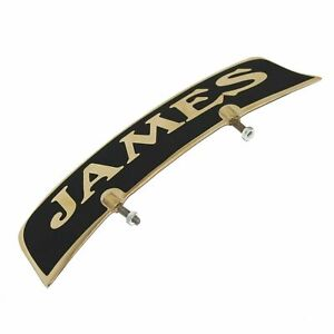 Customized Brass James Front Mudguard Number Plate For james ECs