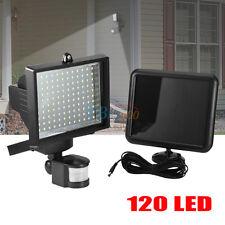 120 LED Solar Powered Motion Sensor Security Floodlight Lamp Outdoor Garden Yard