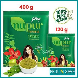 Nupur Henna Hair Growth Silky & Shiny Hair Mehndi Hair Improvement 120g - 400g