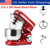 3 in 1 Tilt-Head Stand Mixer with 7QT Bowl 6 Speeds 1200W Meat Grinder Blender