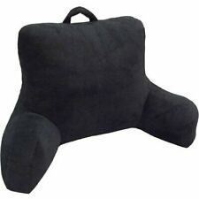 Micro Mink Plush Backrest Lounger Pillow Bed Rest Rich Black polyester fill New