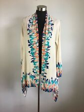 Anthropologie Guinevere Sapphire Flame Cardigan Sweater M Multicolor Open Front