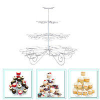 4 Tier Metal Cupcake Stand Muffin Holder Wedding Birthday Halloween Party Decor