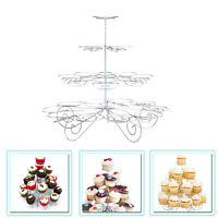 4 Etage Métal Présentoir Cupcake Muffin Support Mariage Birthday Halloween Fête
