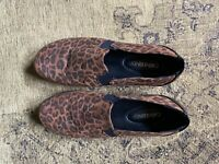 Size 10 leopard animal print Catherines slip on shoes womens comfort shoes