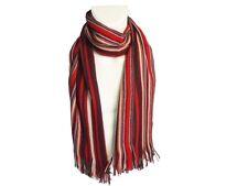 Sciarpa uomo 100% acrilico con frange Laura Biagiotti linea rigata 508 rosso 2079d53f8c55