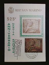 SAN MARINO MK 1969 GEMÄLDE BRAMANTE MAXIMUMKARTE CARTE MAXIMUM CARD MC CM c8507
