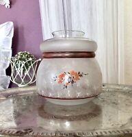 Antik Glasschirm Lampenschirm Glas weiß  Jugendstil Art Déco geätzt als Glasvase