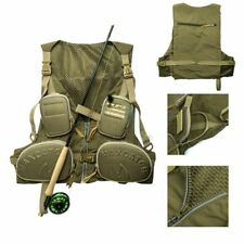 Adjustable Fly Fishing Mesh Vest,Lure Pack,Multi-pocket Sport Backpack Waistcoat