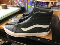 Vans SK8-Hi Reissue (Leather) Asphalt/Blanc NIB Size US 9.5 Men's VN0A2XSBQD1