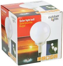 Outdoor Lights Solarleuschte Kugel ca. 20 cm 4 LED Gartenlampe Solarlampe