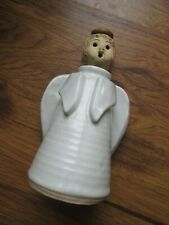 """7"""" Pottery Angel Oil Lamp Signed KIM"""