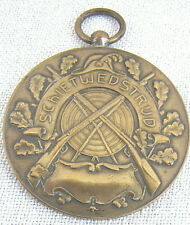 Dutch Prize bronze Medal Issued for the Schietwedstrijd Shooting Contest, 1953