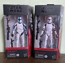 Star Wars Black Series Clone Trooper Lieutenant And Phase 1 Clone Trooper