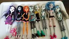 Lot of 8 Mixed Monster high SCREAM CHEER CAFE BED ROLLER dolls Dressed