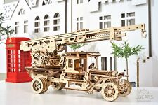 UGEARS FIRE TRUCK Mechanical 3D Wooden Puzzle Construction Craft Set for Adults