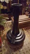 TALL UNIQUE METAL DISTRESSED BRONZE VASE WITH LARGE BOTTOM